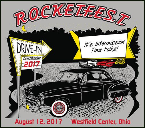 Rocketfest Oldsmobile Car Show T Shirts 1949 Through 1959 Rocket